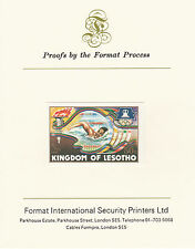 Lesotho 2629 - 1984 OLYMPICS Swimming on Format International PROOF  CARD