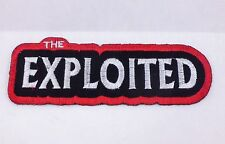 EXPLOITED PUNK ROCK GOTH ROCKABILLY IRON ON PATCH