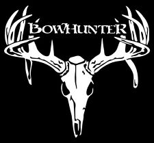 1 BOW HUNTER BUCK DEER SKULL VINYL WINDOW DECAL STICKER-W-1