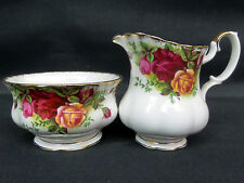 OLD COUNTRY ROSES CREAM JUG & SUGAR BOWL, GOOD CONDITION, ENGLAND, ROYAL ALBERT