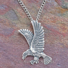 925 sterling silver AMERICAN EAGLE Animal bird Charm Pendant Necklace
