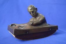 ADOLF POHL (1872-1938) - BRONZE SCULPTURE - FIGURAL INK BLOTTER- SIGNED-AUSTRIA