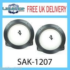 """SAK-1207 Land Rover Defender 2001 al 2005 ADATTATORI ALTOPARLANTI con Flat Pin 5,25 """""""