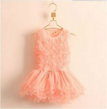 girls summer flower rose tutu party princess wedding dress (sku 320.321.322 )