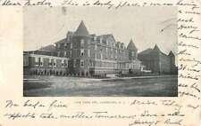 Lakehurst New Jersey Pine Tree Inn Street View Antique Postcard K27625