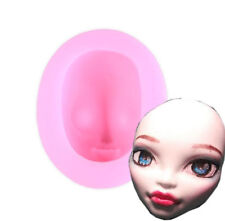 Silicone Girl's Face Clay Mould DIY Fondant Sugarcraft Cake Decoration Mold Tool