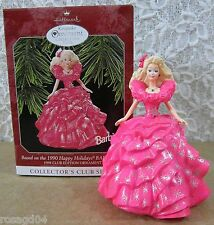 1990 Happy Holidays Barbie Doll Hallmark Keepsake Ornament Collector Club Series