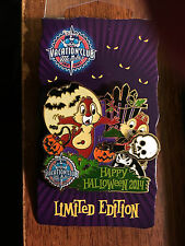 Disney Vacation Club DVC HAPPY HALLOWEEN 2014 Pin Chip Dale LE2000 Slider