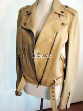 NWT JOHN GALLIANO OSTRICH EMBOSSED LEATHER MOTO JACKET 6 (40)