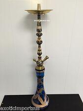 "Caravan Brass Hookah like Khalil Mamoon With Vase & Hose & Brushes & Head 32"" in"