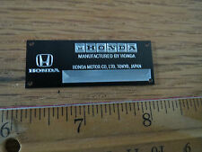 Honda Metal Display Plaque Diecast 1/24 1/18 1/43 F1 Tamiya Mc Laren S2000 Civic