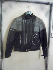 VINTAGE 80'S CAMPRI TEMPEST LEATHER TWIN TRACK MOTORCYCLE JACKET SIZE 52 UKM