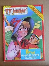 TV JUNIOR n°10  1983 Nils Holgersson Doraemon ed. ERI RAI  [G419A]