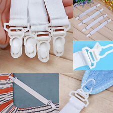 Useful 4 x Bed Sheet Mattress Cover Blankets Grippers Clip Holder Fasteners XC