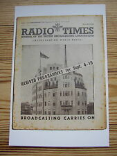 Postcard Radio Times September 1939 Outbreak World War II BBC Broadcasting House
