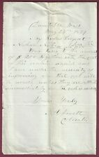 Letter Demanding Back Taxes, Dunstable, Massachusetts, May 24, 1869