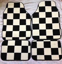 CAR FLOOR MATS CHEQUERED CHECK RACING CAR MATS FOR MGF MG6 ZT ZS TF ZR GT MG