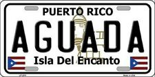 AGUADA Puerto Rico Novelty State Background Metal License Plate