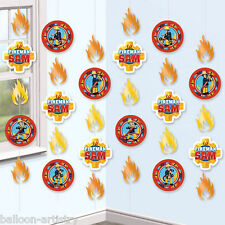 6 FIREMAN SAM Children's Birthday Party 2m Hanging Cutout String Decorations