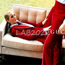 GUCCI TOM FORD '96  RED VELVET SUIT PLUS BABY BLUE '96 SHIRT RARE RARE