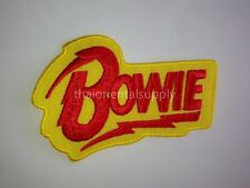 new BOWIE Patch Rock Band Punk Metal Music Logo Embroidered Sew Iron on Patch