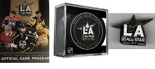 "2017 NHL ALL STAR GAME PROGRAM / ""CUBED"" PUCK & ASG PIN NATIONAL HOCKEY LEAGUE"