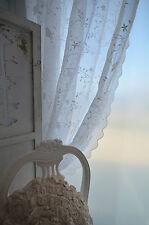 Van Deurs Gardine Weiß Pure White 200 x 250 Landhaus Shabby Chic Vintage Vogel