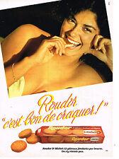 PUBLICITE ADVERTISING 114  1980  ROUDOR   gateaux biscuits ST MICHEL