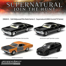 HOLLYWOOD FILM REELS SERIES 2 SUPERNATURAL 4 PACK 1/64 GREENLIGHT 59020B