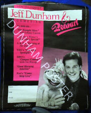 early Jeff Dunham poster, college shows