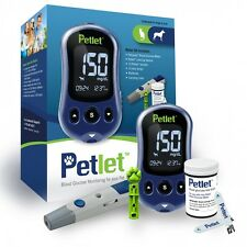 PetLet Pet Blood Glucose Monitoring System Kit Calibrated for Dogs & Cats