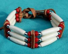 CHIRICAHUA APACHE 3-ROW BONE BRACELET KIT IN 8 COLOURS!