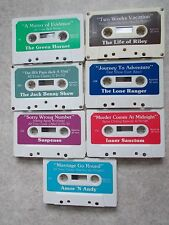 Lot 7 Vtg Cassettes Radio Shows Amos & Andy,Green Hornet,Jack Benny,Lone Ranger+