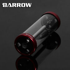 Barrow Quartz Glass Tube Reservoir Water Tank  Red 220mm x 65mm WaterCooling