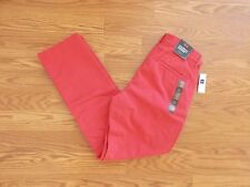 NWT Mens GAP Khaki Faded Red Chino Jeans Pants Size 38 W 30 L $50