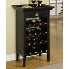 Powell 502-426 Black with Merlot Rub through Wine Cabinet New