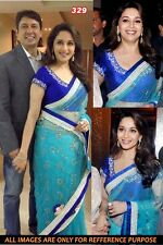 INDIAN BOLLYWOOD SAREE WEDDING BRIDAL PARTY ETHNIC SARI TRADITIONAL kt-3115