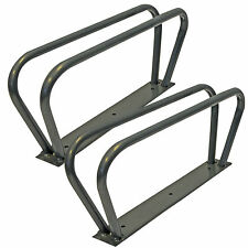 2 X BICYCLE CYCLE BIKE STORAGE UPRIGHT WALL MOUNTED RACK HOOK STANDS SILVERLINE