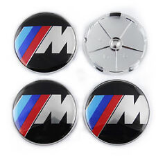 BRAND NEW BLACK BMW M POWER LOGO WHEEL CENTRE CAPS x 4 NEW 2016 68mm