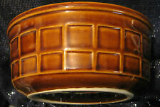 2x Tulowice china bowl in a brown basket style approx 5 1/4 inches diameter