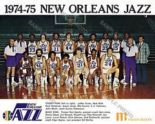 1974-75 NEW ORLEANS JAZZ FIRST INAUGURAL SEASON TEAM PHOTO PETE MARAVICH