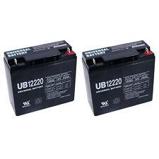 UPG 2 Pack - 12V 22Ah Sealed Lead Acid (SLA) AGM Battery, 12v18ah Upgrade, US SE