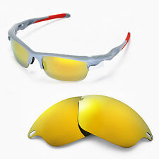 New WL Polarized 24k Gold Replacement Lenses For Oakley Fast Jacket Sunglasses