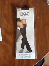 Wolford Knee High Socks/pop Socks. Black. Small. Leg Support