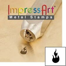 Metal stamp, punch, fire, flame - 6mm