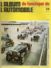 L'ALBUM DU FANATIQUE DE L'AUTOMOBILE N°24 CORD L29 VOISIN 8cyl 12cyl DARMONT JU