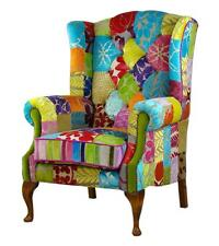 New stunning patchwork chair Designers Guild fabrics