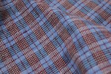 French Antique work clothes fabric clothing material 5 YDS plaid shirting cloth