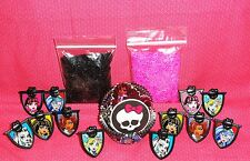 Monster High,Cupcake Kit,Rings,Sprinkles,Bake Cups,Wilton,415-6677,Black/Pink