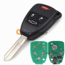 New Uncut Keyless Remote Key Fob 433Mhz ID46 for Chrysler Dodge Jeep FCC OHT